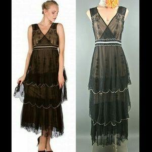 Nataya Dress Vintage Inspired S Black Formal Lace